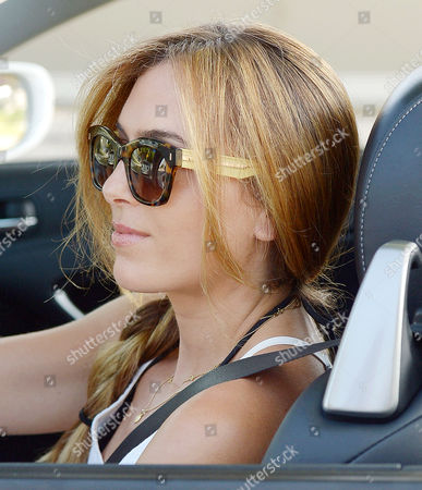 Editorial picture of Christine Ouzounian out and about, Los Angeles, America - 22 Aug 2015
