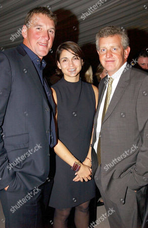 MATTHEW PINSENT WITH WIFE DEMETRA KOUTSOUKOS AND COLIN MONTGOMERIE