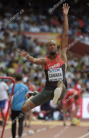 Alyn Camara of Germany during the men's Long Jump qualification