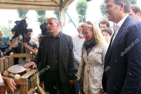 Yanis Varoufakis, Danae Stratou, Arnaud Montebourg