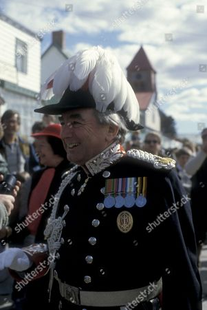 Governor Sir Rex Hunt