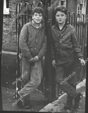 Stock Picture of Danny Malone (right) With His Brother Cavan. Danny Has Been Suspended From His School Belfairs High School Southend Because Of His Striped Jeans And Black Shirt. Box 0625 24072015 00050a.jpg.