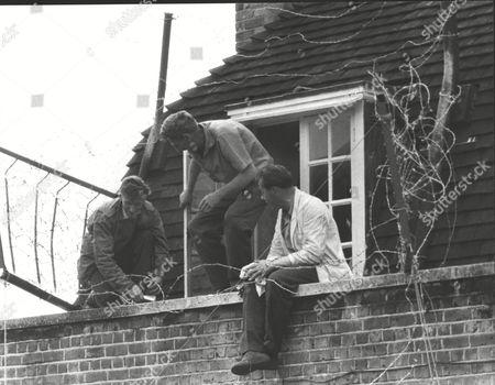 Eviction Case At St. Pancras. Ex-paratrooper Donald Cook Under Siege At His St. Pancras Council Flat. Pictured L-r: Donald Cook Jim Sullivan And Jim Peters. Box 0625 24072015 00226a.jpg.