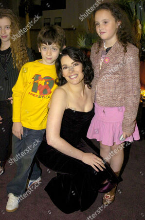 Nigella Lawson and her children (l-r) Cosima and Bruno and her stepdaughter Phoebe Saatchi (right)