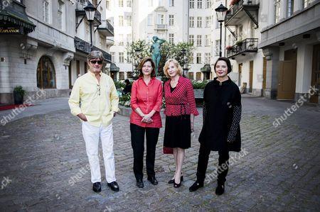 Roberto Rossellini, Ingrid Rossellini, Pia Lindstrom, Isabella Rossellini