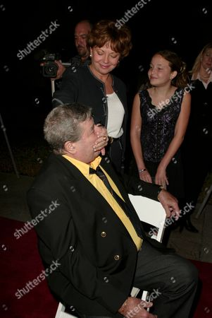 Jerry Lewis, SanDee Pitnick and Danielle Lewis