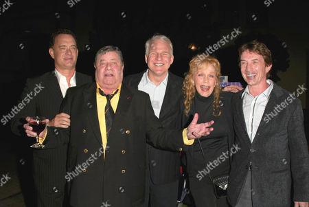 Tom Hanks, Jerry Lewis, Steve Martin, Stella Stevens and Martin Short