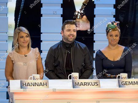 Hannah Fernando, Mark Feehily and Gemma Cairney