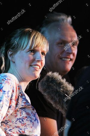 """Greg Davies and Holly Walsh in """"Jest A Minute"""" for BBC Radio Wales"""