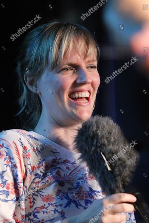 """Holly Walsh in """"Jest A Minute"""" for BBC Radio Wales"""