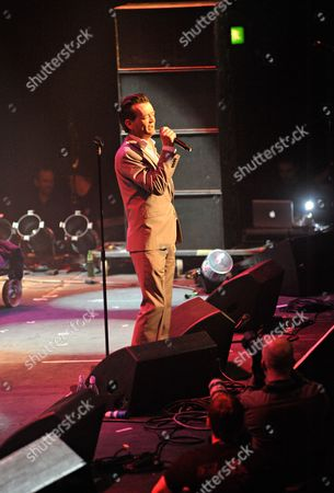 London United Kingdom - May 14: Northern Irish Vocalist Feargal Sharkey Performing Live On Stage As Part Of The Mute Records 80's Night At The Roundhouse In London On May 14