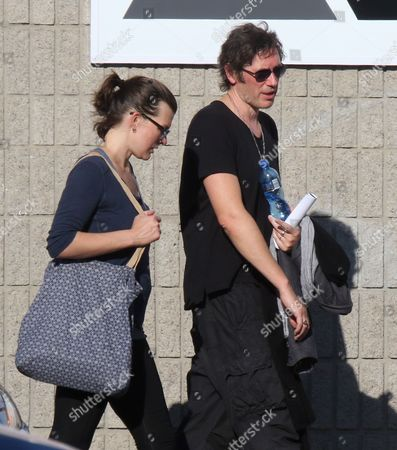 Stock Picture of Milla Jovovich and Paul WS Anderson