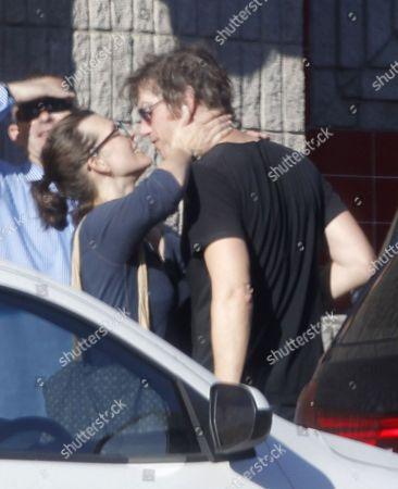 Stock Photo of Milla Jovovich and Paul WS Anderson