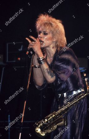 ANDY MCCOY, HANOI ROCKS PERFORMING AT THE VENUE, LONDON - 1984