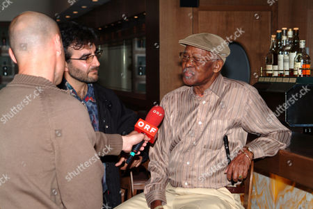 Cuban musician Ibrahim Ferrer, Buena Vista Social Club, during a TV interview in Innsbruck, Austria