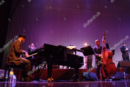 Cuban musicians Ibrahim Ferrer, Roberto Fonseca, Orlando Cachaito Lopez, Buena Vista Social Club, Congress, Innsbruck, Austria
