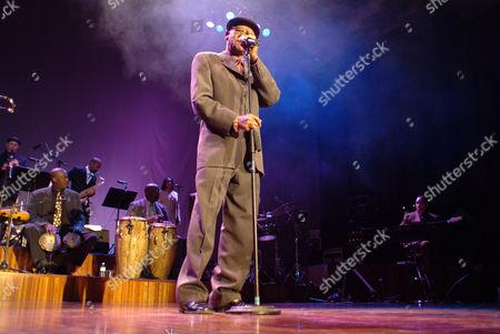 Cuban musician Ibrahim Ferrer, Buena Vista Social Club, during a concert in Innsbruck, Austria