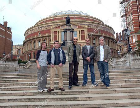'Flash Harry' Queen Tribute Band L-R: Stevie Shanks, John Cleland, Harry Hamilton, Steve Prosser and Ian Wilson