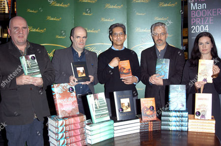 Editorial picture of BOOKER PRIZE SHORTLISTED AUTHORS AT HATCHARD'S BOOK SHOP, PICCADILLY, LONDON, BRITAIN - 19 OCT 2004