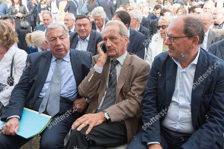 Gerard Larcher, Gerard Longuet and Herve Novelli