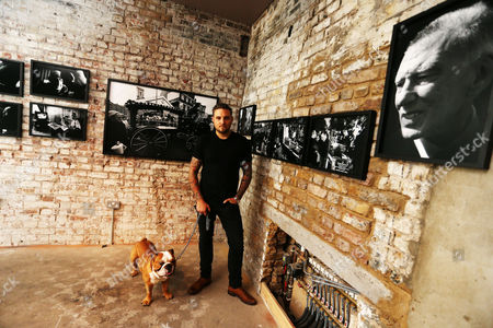Stock Photo of Gerry Calabrese, East End drinks maverick and entrepreneur previews an immersive photography exhibition that opens tomorrow (Friday) in the heart of the East End, focusing on the Krays and their legacy. The exhibition is open for two weeks to coincide with the release of LEGEND in UK cinemas on September 9th in which Tom Hardy plays Kray twins Ronnie and Reggie.