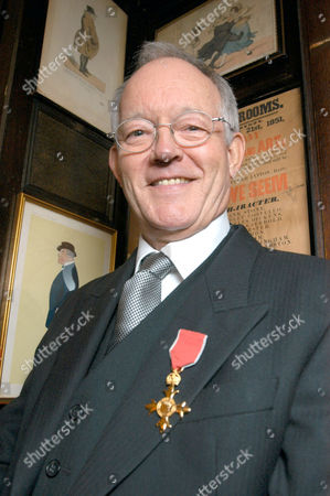 Brian Bennett, who received an OBE today