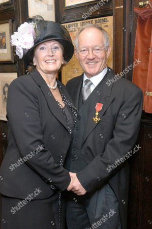 Brian Bennett, who received an OBE today, with wife Margaret