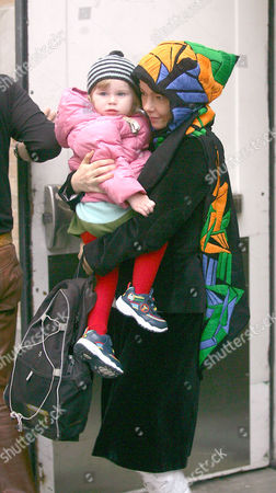 Editorial picture of BJORK AND DAUGHTER ISADORA SHOPPING IN NEW YORK, AMERICA - 21 OCT 2004