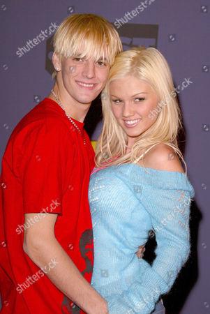 Aaron Carter and Tami Farrell, Miss Teen USA