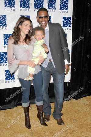 Bill Bellamy with wife Kristen Baker and daughter Bailey