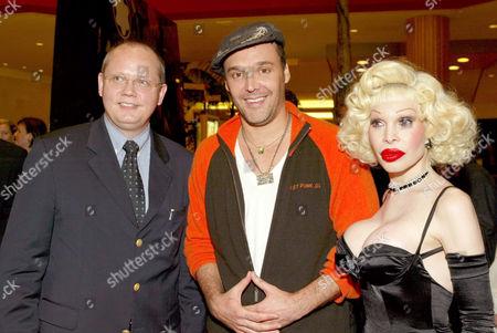 Jan Patrick Schmitz, David LaChapelle and Amanda Lepore