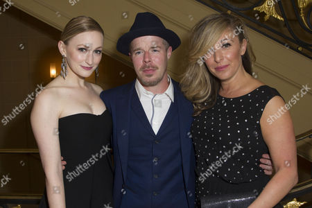Carly Bawden (Dahlia), Stephen Wight (Lee) and Tracy-Ann Oberman (Isabella Blow)