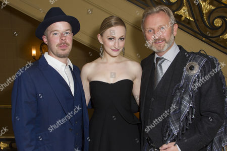 Stephen Wight (Lee), Carly Bawden (Dahlia) and Julian Stoneman (Producer)