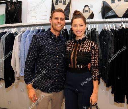 Jessica Biel and brother Justin Biel