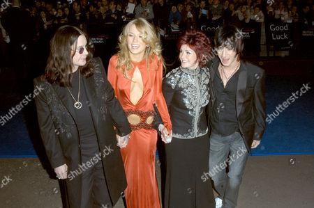 Ozzy Osbourne, Roberta Howett, Sharon Osbourne and Tabby Callaghan