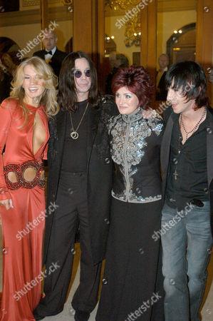 Roberta Howett, Ozzy and Sharon Osbourne and Tabby Callaghan