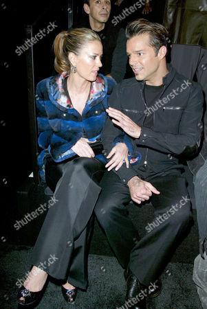 Rebecca de Alba and Ricky Martin