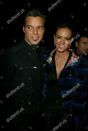 Stock Picture of Ricky Martin and Rebecca de Alba