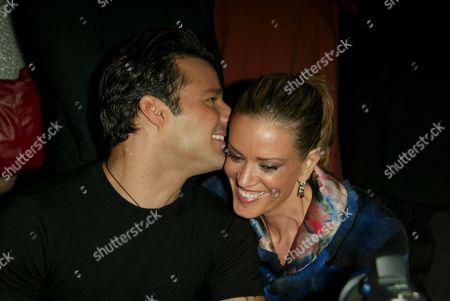 Stock Photo of Ricky Martin and Rebecca de Alba
