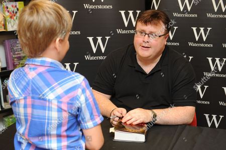 Editorial picture of Derek Landy 'Demon Road' book signing, Bluewater shopping centre, Kent, Britain - 28 Aug 2015