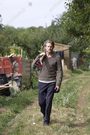 Noah Huntley at his West London allotment