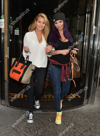 Chloe Goodman and Cami Li leaving Gilgamesh