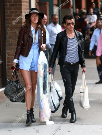 Editorial image of Alex Turner and girlfriend Taylor Bagley out and about, New York, America - 27 Aug 2015