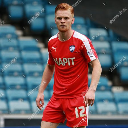 Chesterfield player Liam O'Neill during the Sky Bet League 1 match between Millwall and Chesterfield at The Den, London