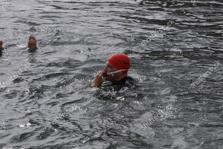 Editorial photo of Open water swimming event around the Christiansborg Palace, Copenhagen, Denmark - 29 Aug 2015