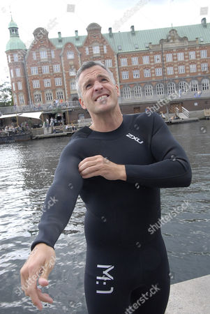 Editorial picture of Open water swimming event around the Christiansborg Palace, Copenhagen, Denmark - 29 Aug 2015