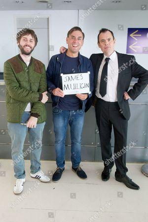 James Buckley, James Mullinger and Kevin Eldon