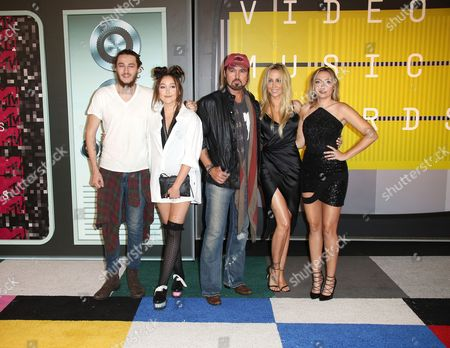 Braison Cyrus, Letitia Cyrus, Noah Cyrus, Billy Ray Cyrus and Brandi Glenn Cyrus