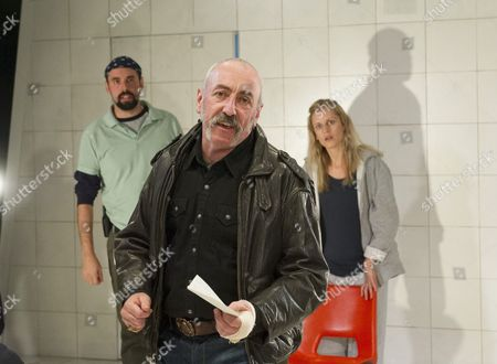 Stock Image of Alistair Cope as Foster, Kevin McMonagle as Paul, Denise Gough as Emma,
