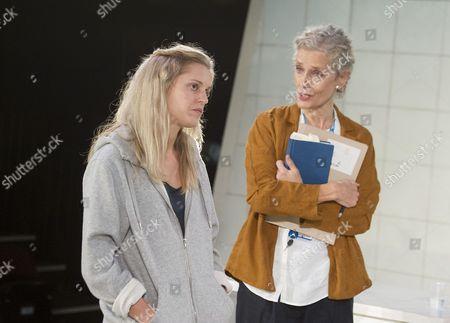 Denise Gough as Emma, Barbara Marten as The Doctor